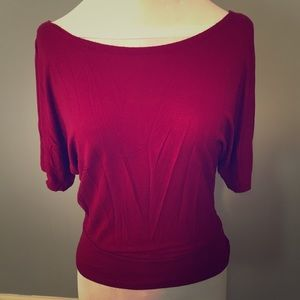 Zenana Outfitters Red Batwing Top Size Small